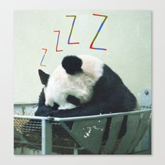 Sleepy Panda Canvas Print