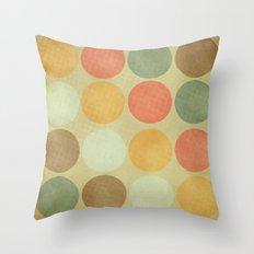 Autumn Circles  Throw Pillow
