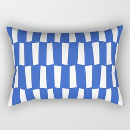 Classic blue and white abstract shapes pattern Rectangular Pillow