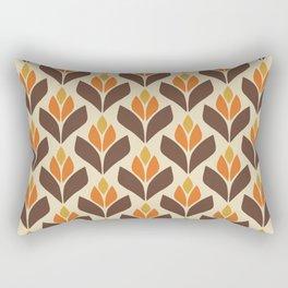 Retro Trefoil Pattern Rectangular Pillow
