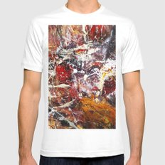 Round About White Mens Fitted Tee MEDIUM