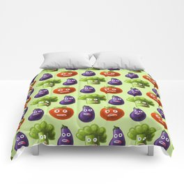 Funny Cartoon Vegetables Comforters
