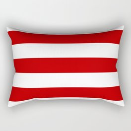UE red - solid color - white stripes pattern Rectangular Pillow