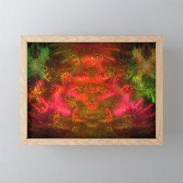 Luminous Fireplace Framed Mini Art Print