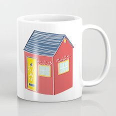 Little Red Scandinavian House Mug