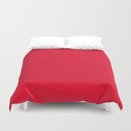 Juicy Red Apple Brush Texture Duvet Cover