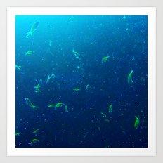 Tiny Yellow Fish Art Print