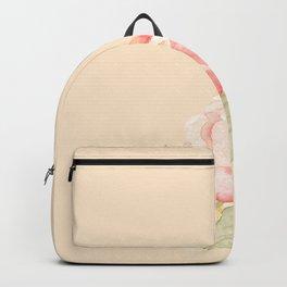 Spring Flowers Peach Backpack
