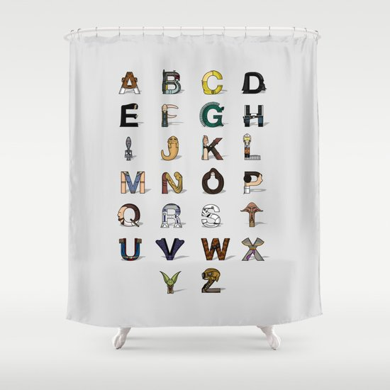 Star W. alphabet Shower Curtain