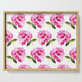 Pink Flower Serving Tray