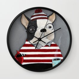 Waldo the Boston Terrier Wall Clock