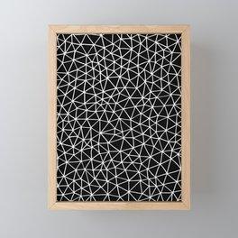 Connectivity - White on Black Framed Mini Art Print