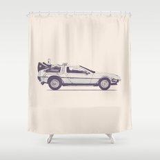Famous Car #2 - Delorean Shower Curtain