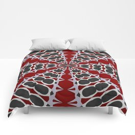 Red Black White Pattern Comforters