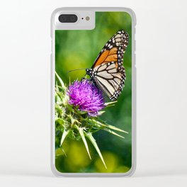 monarch with mustard Clear iPhone Case