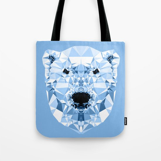 Diamond Polar Bear Tote Bag