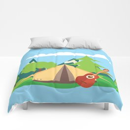 camping , outdoors , nursery decor , children gift, birthday gift Comforters