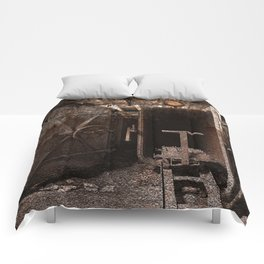 Rusty Grunge Silk Mill Comforters