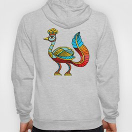 Ancient Egyptian Painting - Peacock Deity Hoody