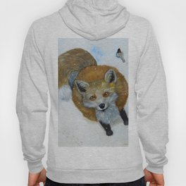 Fox and Chickadee Hoody