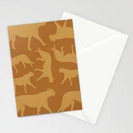 Retro Cheetah Safari  Stationery Cards