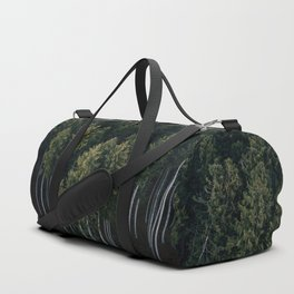 Aerial Photograph of a pine forest in Germany - Landscape Photography Duffle Bag