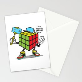 Funny Rubik's Cube Stationery Cards