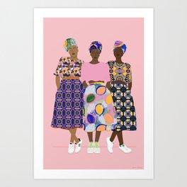 GIRLZ BAND Art Print