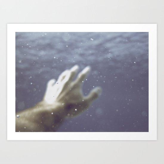 Drowning Art Print