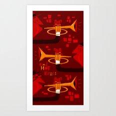 Red Hot Brass Art Print