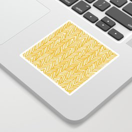 Boho Mudcloth Pattern, Summer Yellow Sticker