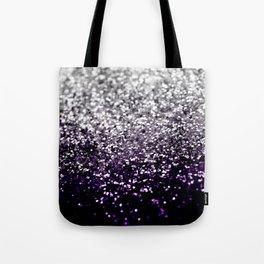 Dark Night Purple Black Silver Glitter #1 #shiny #decor #art #society6 Tote Bag
