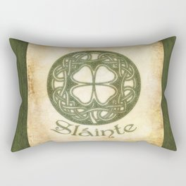 Slainte or To Your Health Rectangular Pillow