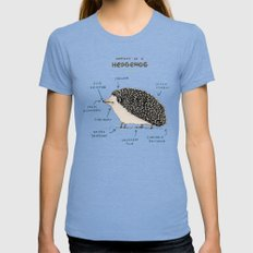 Anatomy of a Hedgehog Womens Fitted Tee SMALL Tri-Blue
