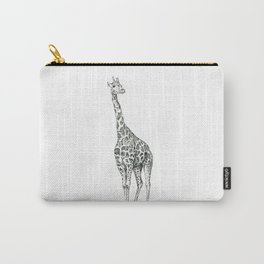 Giraffe Biro Drawing Carry-All Pouch