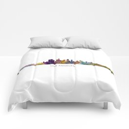 Los Angeles City Skyline HQ v1 Comforters