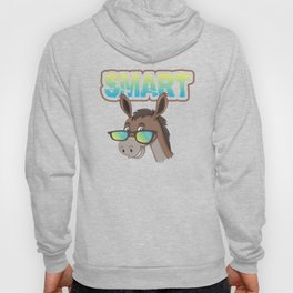 Smart Cute Donkey , Funny Sarcastic  Smart Ass Donkey, Sarcasm Humor For Adults Hoody