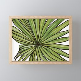 Digital Water Color Palm Frond Design Framed Mini Art Print