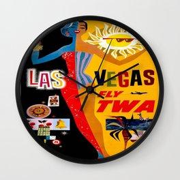 Vintage poster - Las Vegas Wall Clock