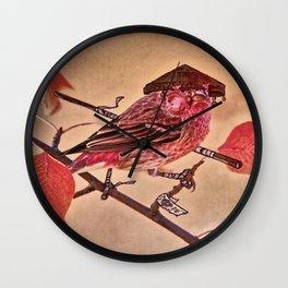 Birds In Armor 3 Wall Clock