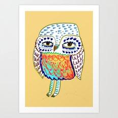 colorful Owl, owl art, owl design, owl print, Art Print