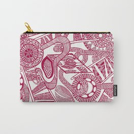 Ornate Red and White Carry-All Pouch