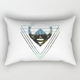 Mountain Lake Triangles Rectangular Pillow