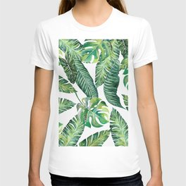 Jungle Leaves, Banana, Monstera #society6 T-shirt