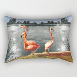 The flamingos Rectangular Pillow