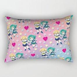 Chibis Uranus & Neptune Rectangular Pillow