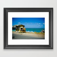 Shack By The Sea Framed Art Print