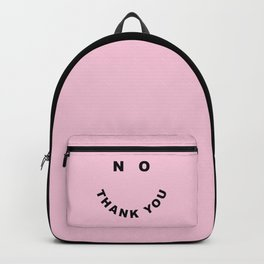 No Thank You Funny Offensive Saying Backpack