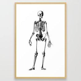 Straight the pose Framed Art Print