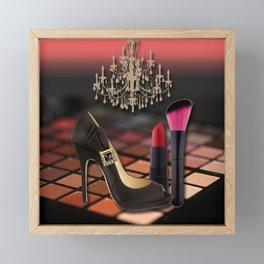 Fashion Accessories & Chandelier Collage Framed Mini Art Print